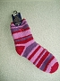 INTEC CHENILLE SOCK RED/PURPLE ONE SIZE