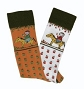 OV NOVELTY SOCK PONY APPLE WHT 464339 KIDS